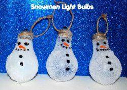 Snowmen Light Bulbs