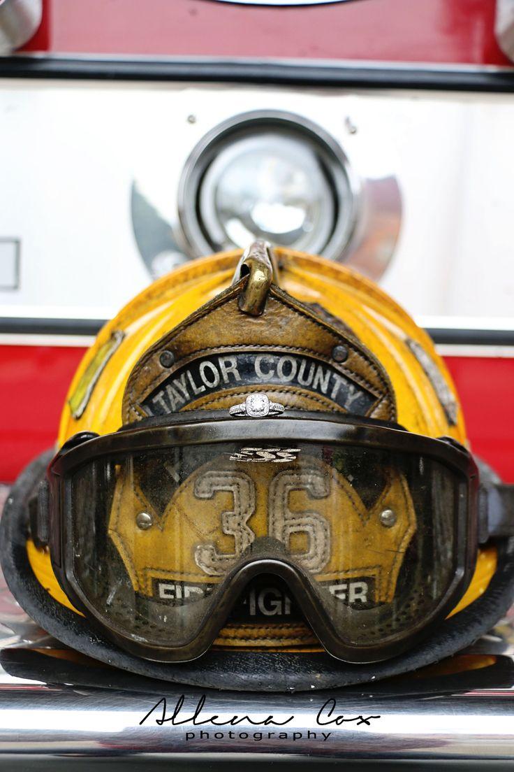 Engagement Love Diamond Ring Firefighter Firetruck Helmet Central  Kentucky