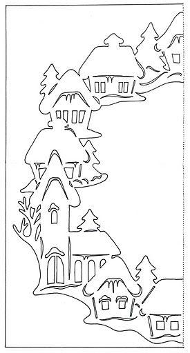 Вырезать белоснежные зимние пейзажи из белой бумаги для пастели одно удовольствие. Белизна придает особый шарм вырезанной картине, а если подобрать удачный темный фон, то эффект просто невероятный....