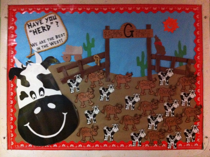 25 best ideas about cowboy bulletin boards on pinterest for Farm door ideas