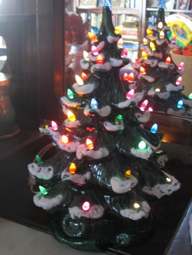 Ceramic Christmas Tree...... Reminds me of my childhood at grandmas