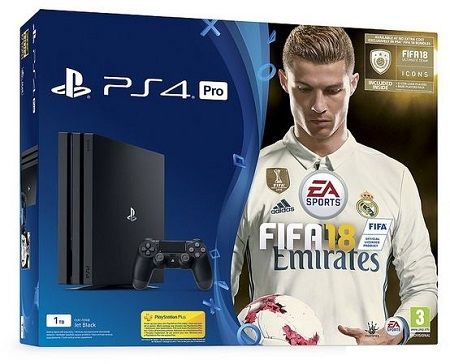 Sony Playstation 4 1TB Pro + Fifa 18 Ronaldo Edition, price, review and buy in Dubai, Abu Dhabi and rest of United Arab Emirates | odu7.com