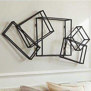 e-Home® metall vägg konst väggdekor, rektangulära väggdekor en st – USD $ 119.99