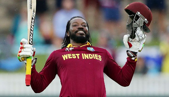 Chris Gayle slams first double ton in World Cup history Details: http://goo.gl/XOn8tE  #gismaark #chrisgayle #cwc15 #worldcup2015