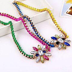 Fluorescente Colore Di Multi-Slice Colored Gemstone Collana Fiore