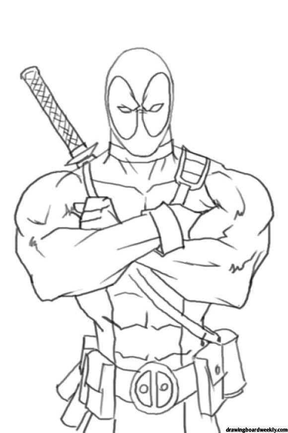 Coloring Pages Deadpool Deadpool Drawing Avengers Coloring Pages Avengers Coloring