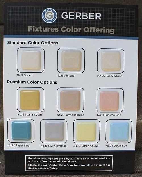 Bathroom Fixtures In 7 Retro Colors From Peerless Plus