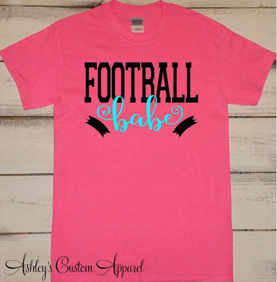Football Babe Shirt, Football Girlfriend, Womens Football, Girls Football Shirt, Football Tshirts, Personalized Womens, I Love Football  by AshleysCustomApparel