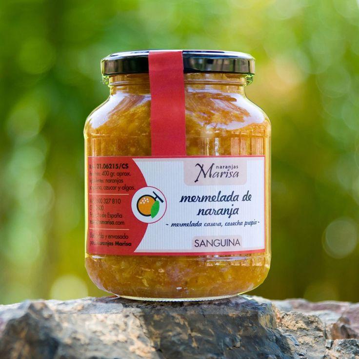 Productos elaborados – Naranjas Marisa. TARRO DE MERMELADA DE NARANJA SANGUINA 400GR. Productos elaborados 100% naturales y de cosecha propia