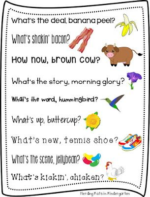 FREE Rhyming morning greetings!