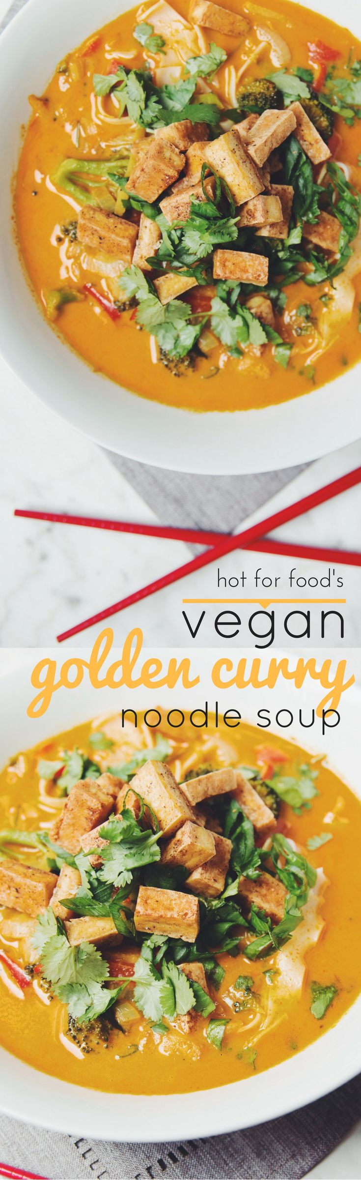 vegan golden curry noodle soup | RECIPE by hot for food