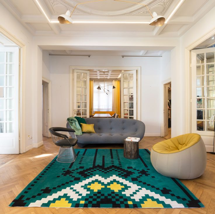 Dare to Rug <Frisky> from the 'Romanian Moods' Collection.   Hand-tufted with the best New Zealand wool.   #daretorug #daretodesign