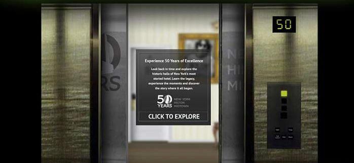 #evokad created a microsite for New York Hilton Midtown to help them celebrate their 50th anniversary.  http://www.hiltonnewyork50.com/