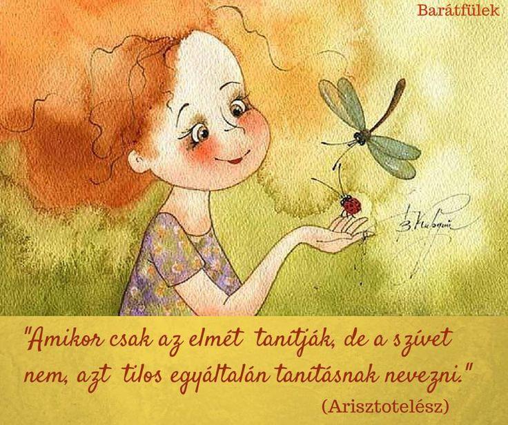 Arisztotelész idézet a szív tanításáról. A kép forrása: Barátfülek