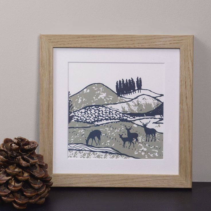 NEW In The Mountains collection is inspired by the Scottish landscape, a hand printed screen print made in Scotland.