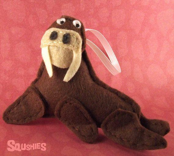 Felt Animal,  Felt Christmas Ornament -Chester the Walrus