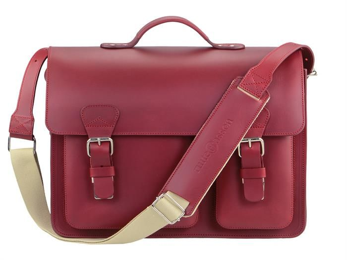 Aktentasche Herren Damen Leder mit 2 Fächern rot Lehrertasche Businesstasche Arbeitstasche Tasche Notebooktasche