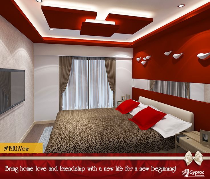 Gyproc #falseceilings will make all the difference to your home. The positive environment that the #falseceiling brings will help you build love and friendship with your loved ones. Visit www.gyproc.in