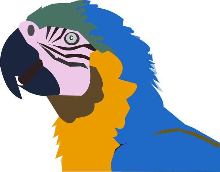 ARARA existe assim em nosso Estado Mato Grosso, são lindas - Criação Kakau