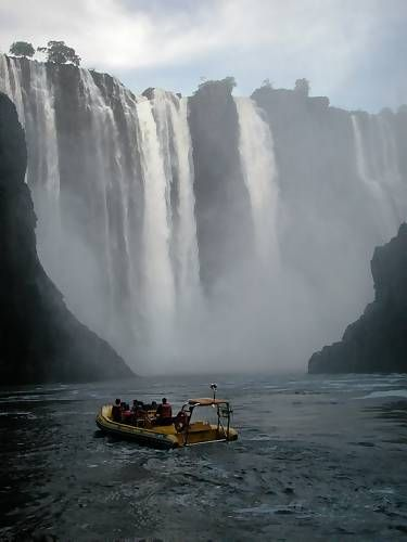 Victoria Falls is considered to be one of the seven wonders of the world. Located on the Zambezi River between the countries of Zimbabwe and Zambia