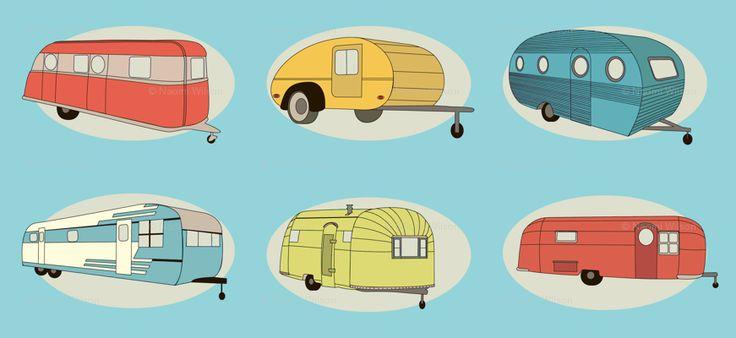 @Pinterest CARAVANS !!!: Camps Fabrics, Campers Craze, Camps Gears, Aqua Fabrics, Custom Fabrics, Spoonflower Fabrics, Bright Aqua, Tiny Campers, Happy Campers