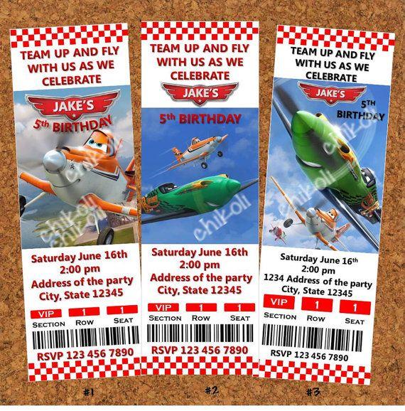 Disney Planes Birthday Party Invitation by Chikoli on Etsy, $8.00