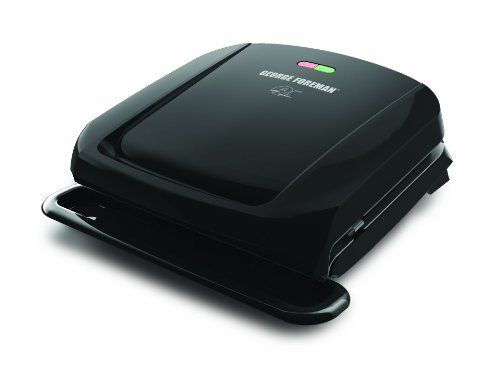 Great George Foreman GRP1060B 4 Serving Removable Plate Grill, Black