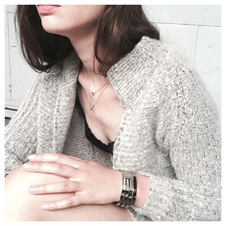 BANDHU fragment bracelets and double V necklace | www.bandhu.eu