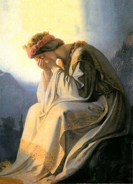 Our Lady of La Salette. Nobody asks why Our Lady is crying anymore. We all know.
