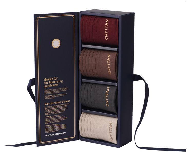 Think Originality! Cnyttan socks make a great gift with its prestige package.