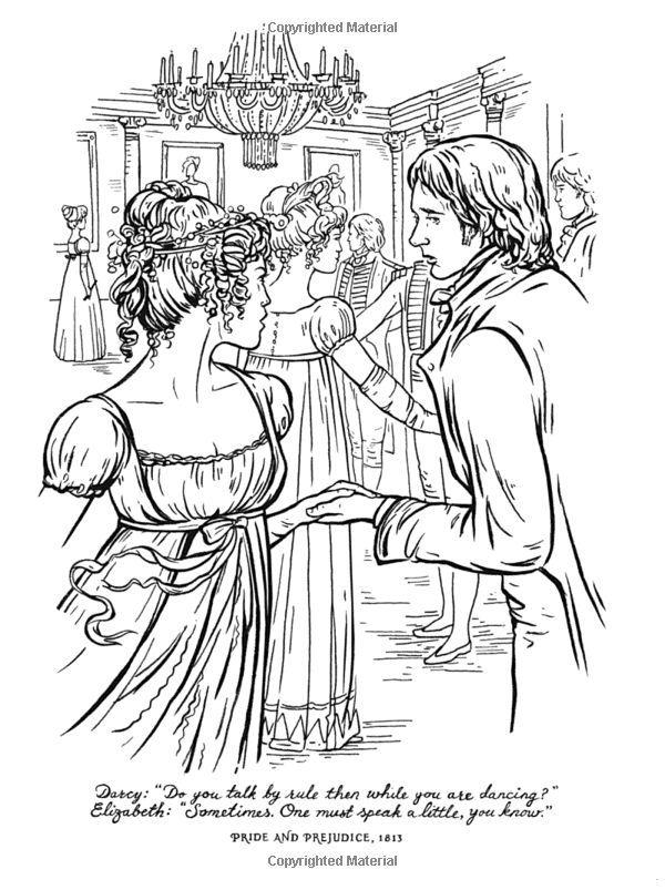 Jane Austen Illustration Orgullo Y Prejuicio Colores Prejuicios