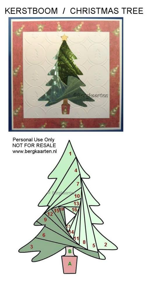 Iris Fold: Christmas Tree