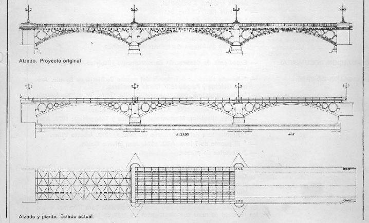 Plano del Puente de #Triana perteneciente al proyecto original. ¿Lo conocías? #curiosidades #Sevillahoy #TrianaOcio