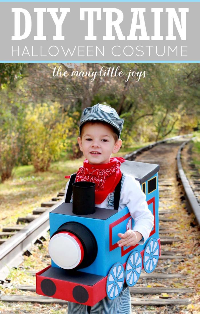 If you have a little train-lover in your house, this DIY train costume is a great trash-to-treasure creation. Your little engineer will love choo-chooing around the neighborhood in this costume!
