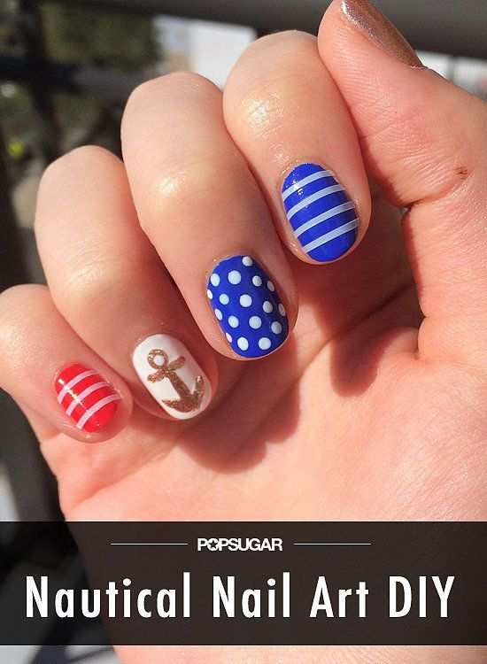Get Nautical Nails For Memorial Day Weekend