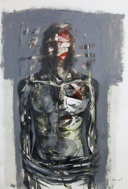 "Saatchi Online Artist Masri Hayssam; Painting, ""Sacrifice"" #art"