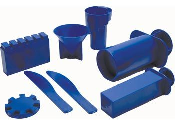 Kinetic Accessories Lightweight Castle Moulds. These moulds are ideal for making castles, houses and other architectural designs