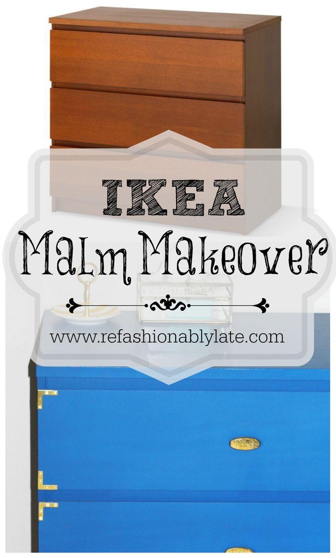Ikea Malm Makeover - www.refashionablylate.com