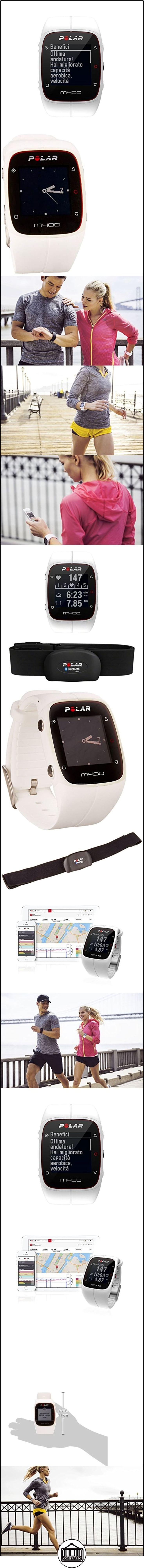 Polar M400 HR - Reloj de entrenamiento con GPS integrado y registro de actividad con sensor de frecuencia cardíaca H7, color blanco  ✿ Relojes para mujer - (Gama media/alta) ✿
