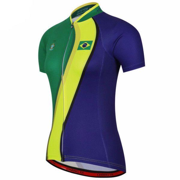 Brazil Women's Short Sleeve Cycling Jersey