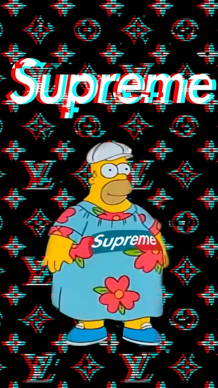 Download Homer Supreme Wallpaper By Halfonso P 41 Free On Zedge Now Browse Millions Of Popular Supreme Wallpaper Supreme Art Dragon Ball Wallpaper Iphone