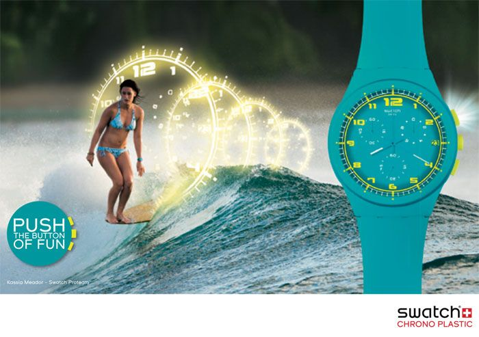 montre-swatch-chrono-turquoise I want this. Not only is it turquoise, Kassia Meador has one.