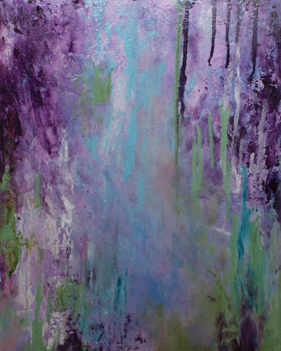 Purple Wisteria Abstraction by Annie Flynn