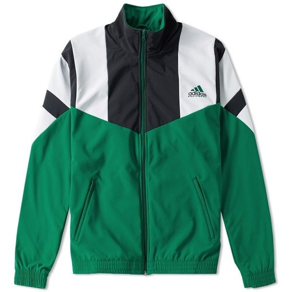 Adidas EQT Track Top (330 BRL) ❤ liked on Polyvore featuring men's fashion, men's clothing, men's activewear and men's activewear jackets