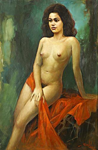 Nude - Basuki Abdullah - Realism