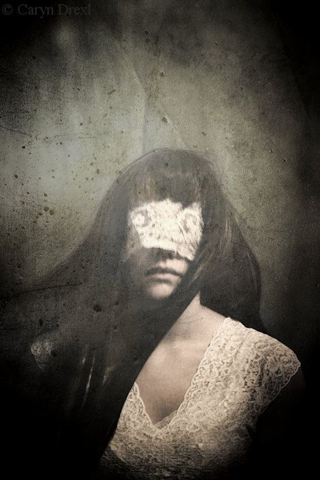 Sway - Discount Print FREE SHIPPING 5x7 Girl White Lace Blind Movement Wind Gray Green Cream Surreal Portrait Photo Art