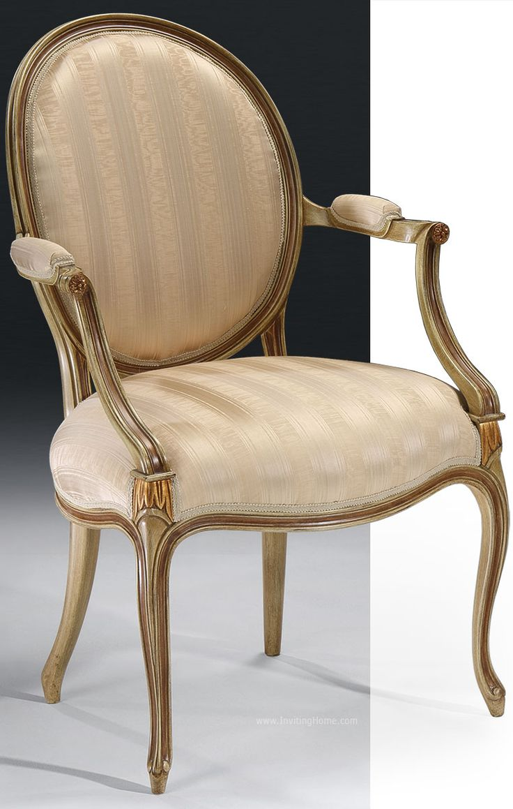 This hand painted hepplewhite style chairs is no longer available - Hand Crafted Carved Louis Xv Style Beech Wood Chairs With Pickled Highlights And Gold Accents