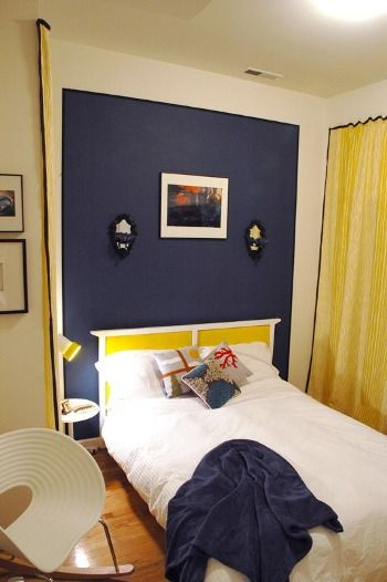 78 ideas about navy accent walls on pinterest navy. Black Bedroom Furniture Sets. Home Design Ideas