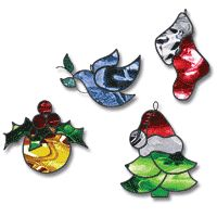 212 best stained glass Christmas ornaments images on Pinterest