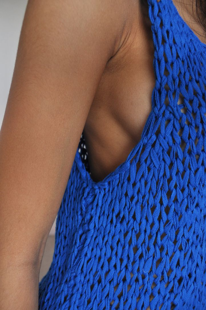 YVES KLEIN BLUESweaters, Knits Tops, Cobalt Blue, Tanks Tops, Summer Colours, Summer Colors, Crochet Tops, Electric Blue, Chunky Knits